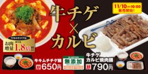 【松屋:食レポ】牛チゲカルビ焼肉膳が旨すぎて、世界の中心で愛を叫んでしまいました。