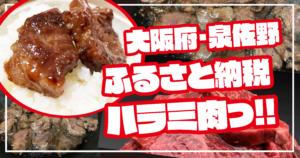 【ふるさと納税】大阪府泉佐野市の秘伝の赤タレ漬け牛ハラミ肉が本当においしい!!